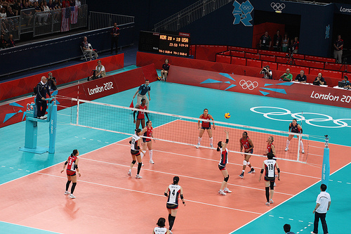 Volleyball Court Lines, Markings and Player Positions   First Team Inc