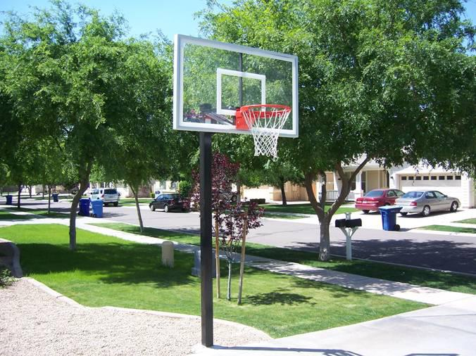 Selecting the location for your new basketball hoop for Average basketball court size
